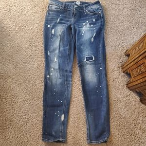 Distraught jeans